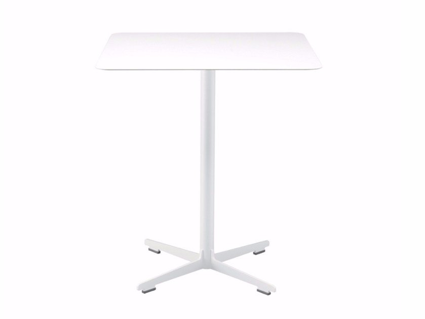 Square table with 4-star base CROSS TABLE - 574 | Table by Alias