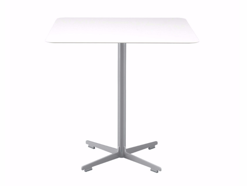 Square table with 4-star base CROSS TABLE - 577 | Table by Alias