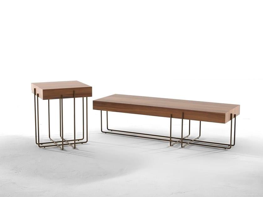 Low wooden coffee table CRUZ by Tonin Casa