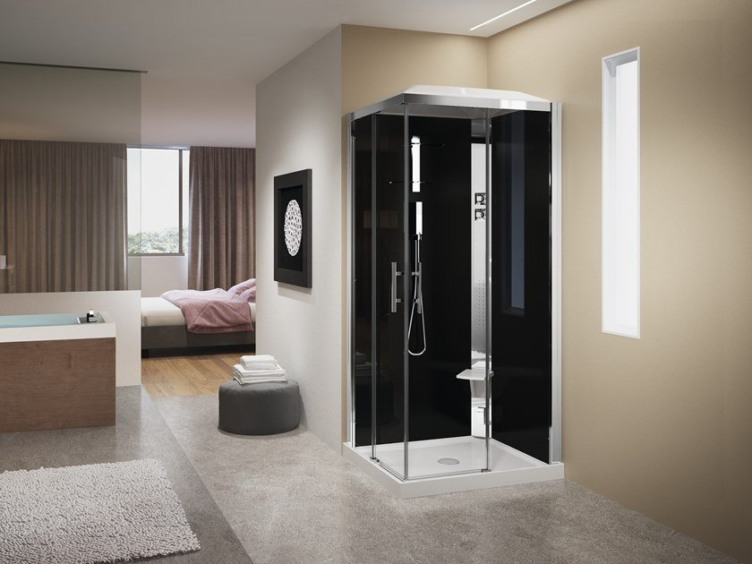Rectangular Hydromassage shower cabin CRYSTAL A 100X80 by NOVELLINI