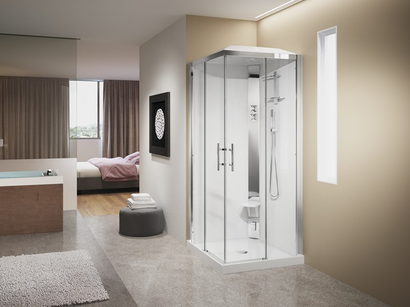 Multifunction shower cabin CRYSTAL A90 by NOVELLINI