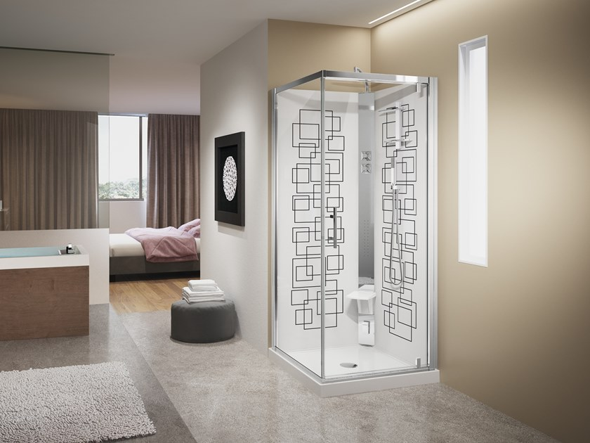 Hydromassage shower cabin CRYSTAL G90 by NOVELLINI