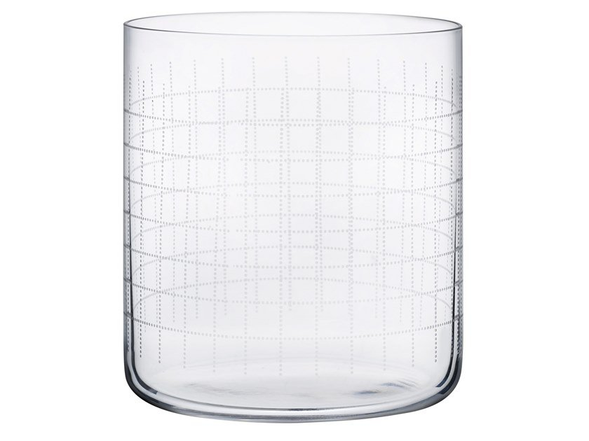 Set of 4 Whisky Glasses FINESSE GRID | Crystal glass by NUDE