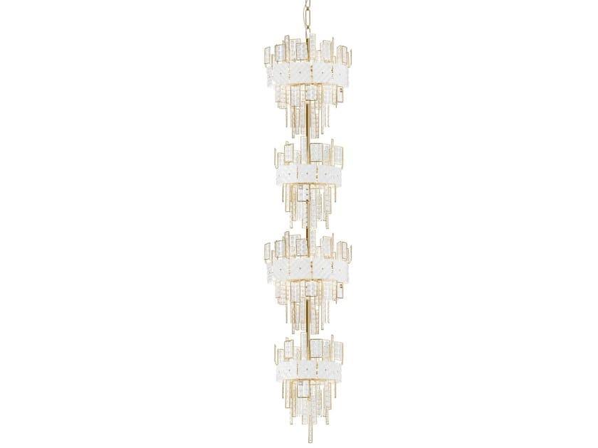 Lampada a sospensione in cristallo CRYSTALLINE | Lampada a sospensione in cristallo by IDL EXPORT