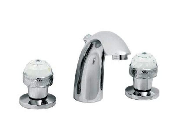 Classic style 3 hole countertop washbasin tap CRYSTAL | 3 hole washbasin tap by GENTRY HOME