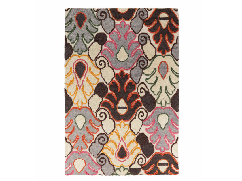 Patterned wool rug CRYSTAL VOL.I by miinu