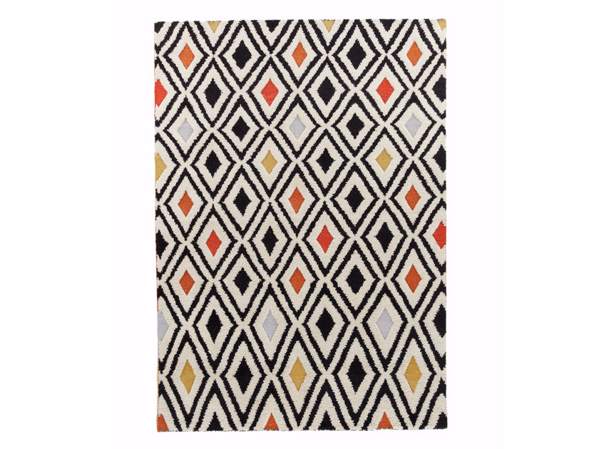 Wool rug with geometric shapes CRYSTAL VOL.II by miinu