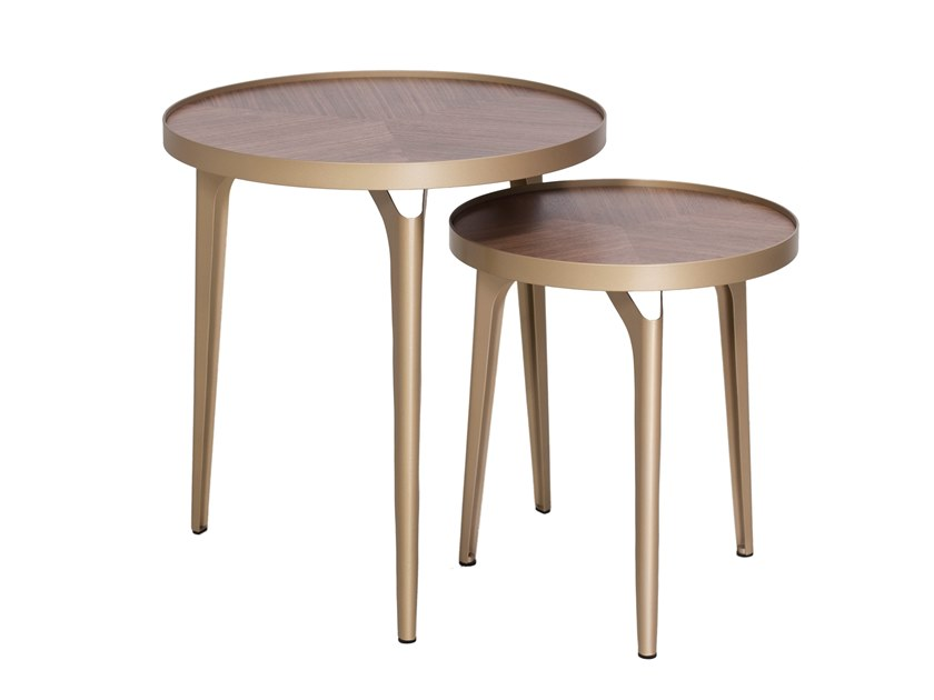 Round wooden coffee table CT-399A/B | Coffee table by Adwin