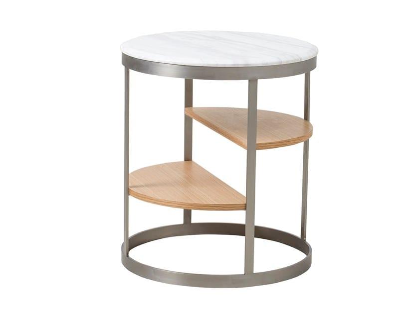 Tavolino da caffè rotondo in legno CT-358 | Tavolino by Adwin