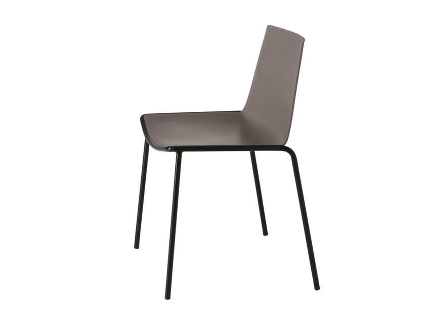 Stackable polypropylene chair CUBA 620 by Metalmobil