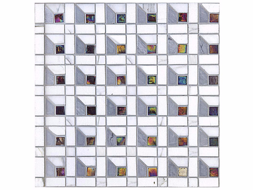 Mosaico in marmo e vetro BOITE - CONTEMPORARY BOX - CUBE 15 GLASS by Lithos Mosaico Italia
