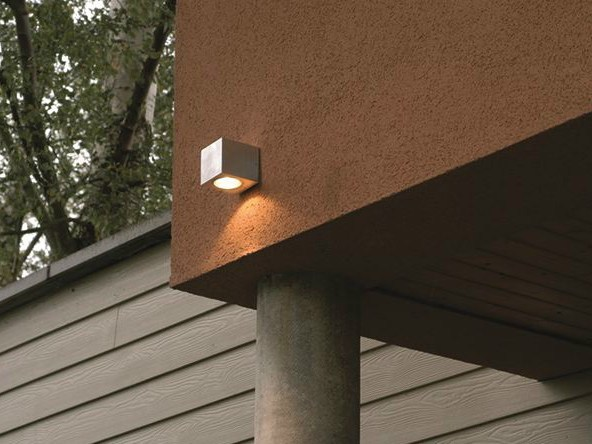 Aluminium Wall Lamp CUBE 1L (exterior lighting) by BEL-LIGHTING