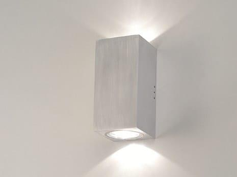 Applique per esterno a luce diretta e indiretta in alluminio