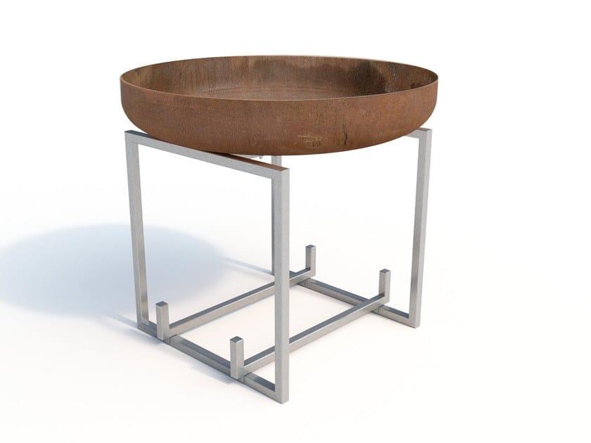 Carbon steel fire baskets CUBE by Arpe studio