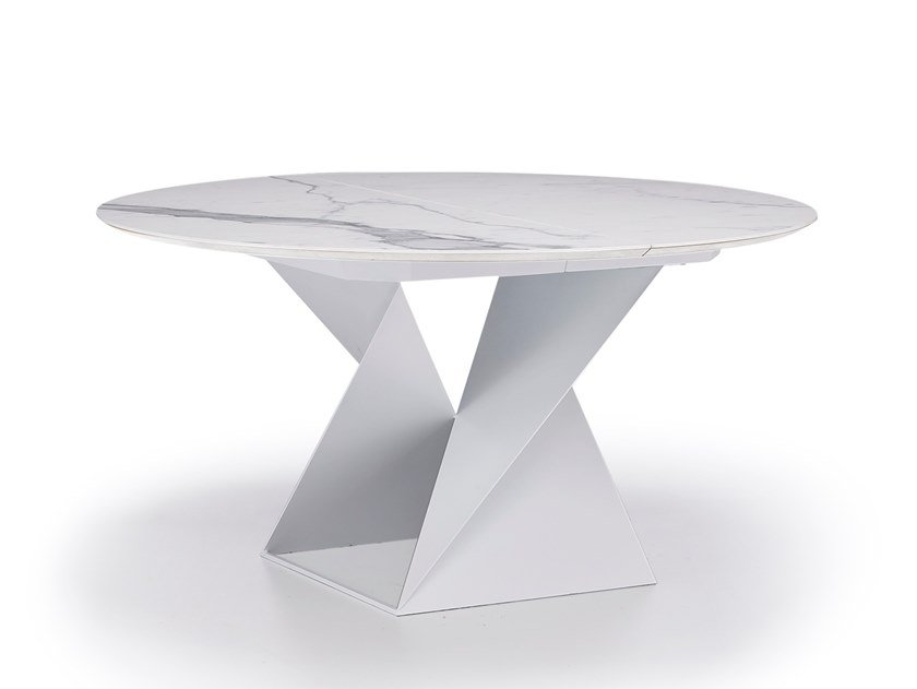 Round porcelain stoneware table CUBE | Porcelain stoneware table by Natisa