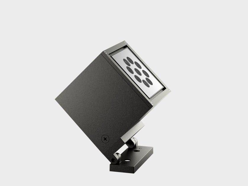 Proiettore per esterno a LED in alluminio CUBE PROIETTORE by Cariboni group
