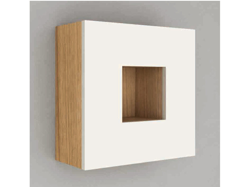 Suspended wooden bathroom wall cabinet CUBE | Bathroom wall cabinet by Componendo