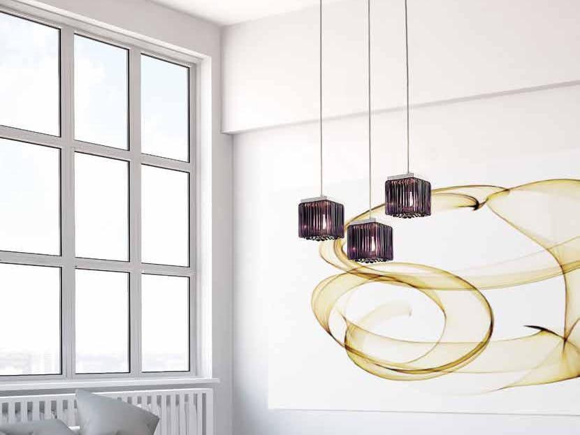 Murano glass pendant lamp CUBETTI LS 609 by Siru