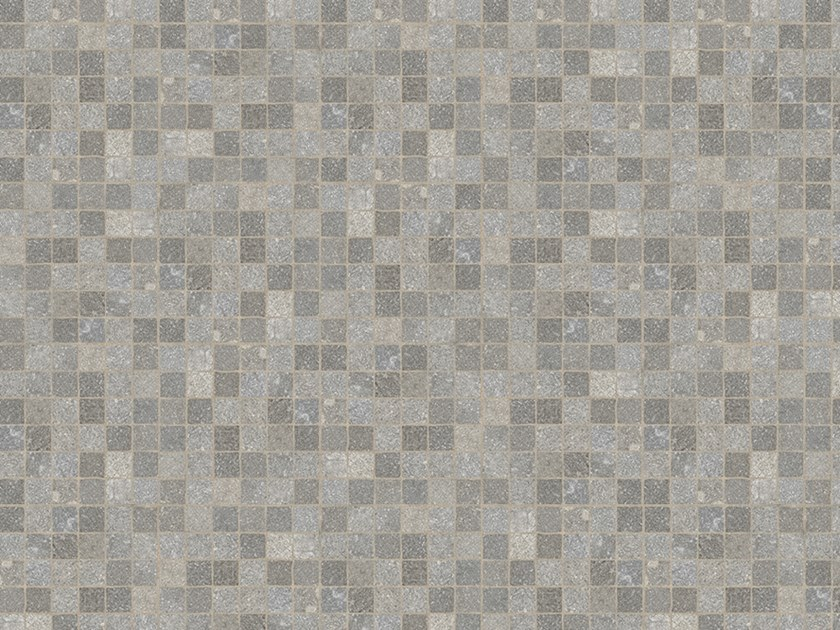 Porcelain stoneware outdoor floor tiles with stone effect CUBETTI PORFIDO GRIGIO by GRANULATI ZANDOBBIO