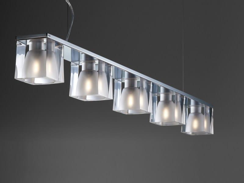 Crystal pendant lamp CUBETTO | Pendant lamp by Fabbian