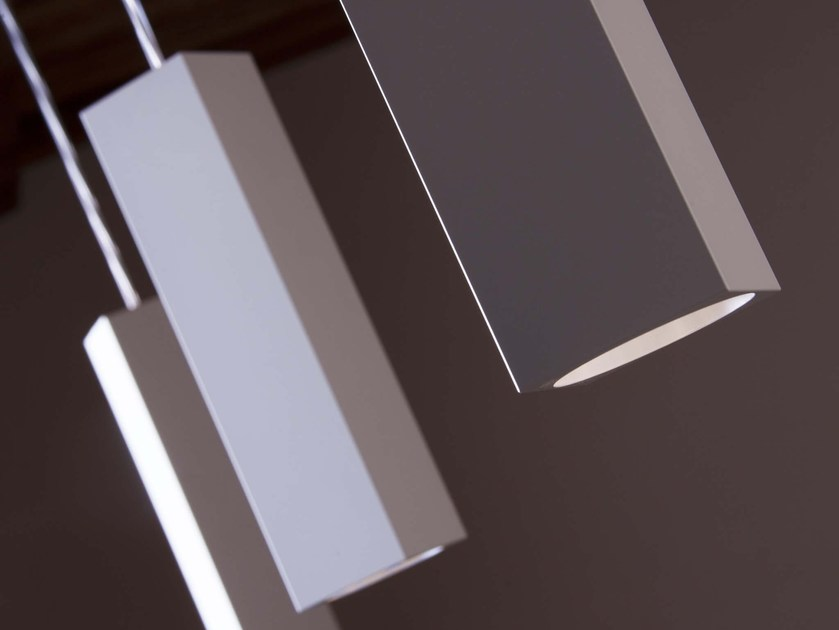 LED aluminium pendant lamp CUBETTO FINE SOSPESO by Brillamenti