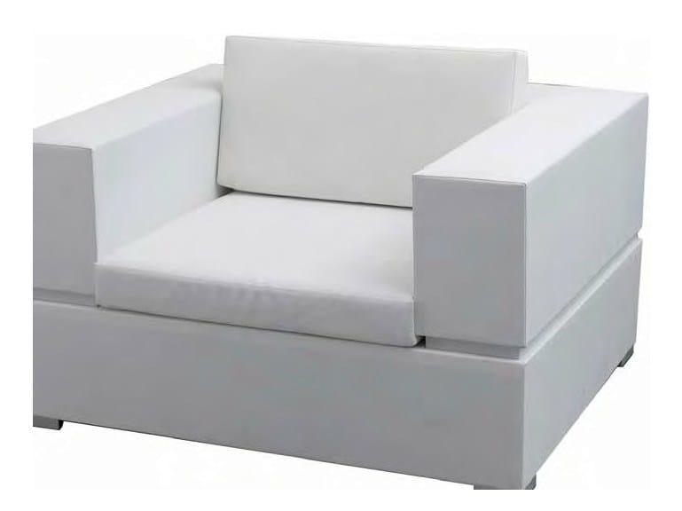 Club fabric garden armchair CUBIC | Club garden armchair by calma