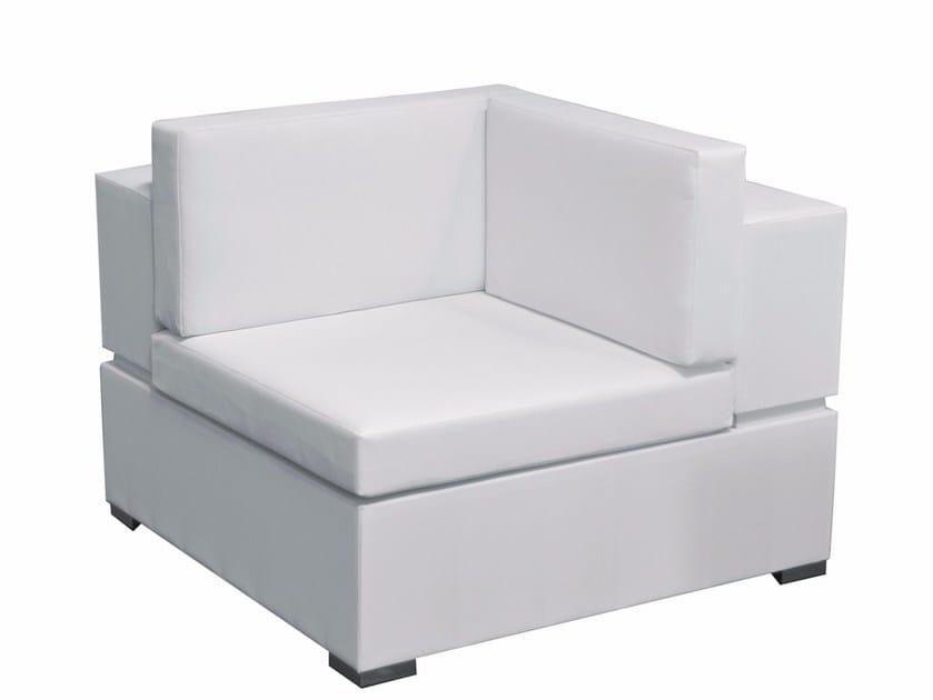 Modular fabric garden armchair CUBIC | Corner garden armchair by calma