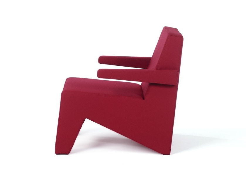Fabric easy chair with armrests CUBIC   Easy chair with armrests by Moca