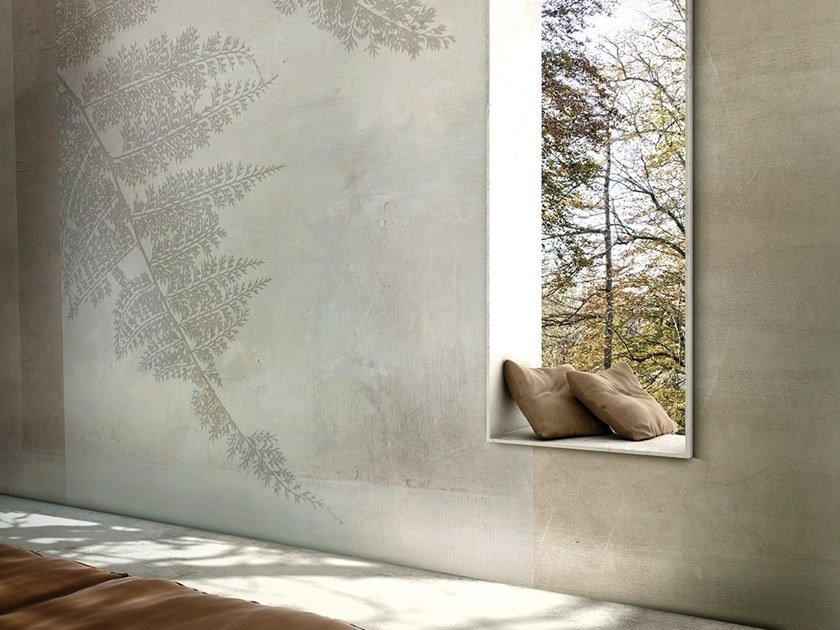 Wallpaper with floral pattern CUBIC FERN by GLAMORA