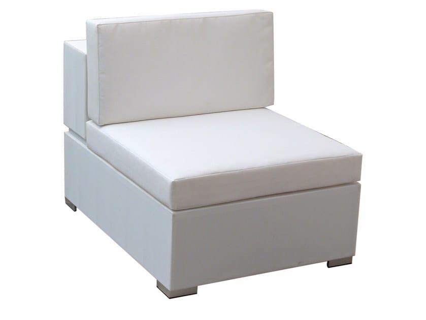 Modular fabric garden armchair CUBIC | Modular garden armchair by calma