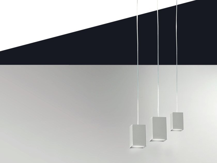 LED metal pendant lamp CUBICK | Pendant lamp by Cattaneo