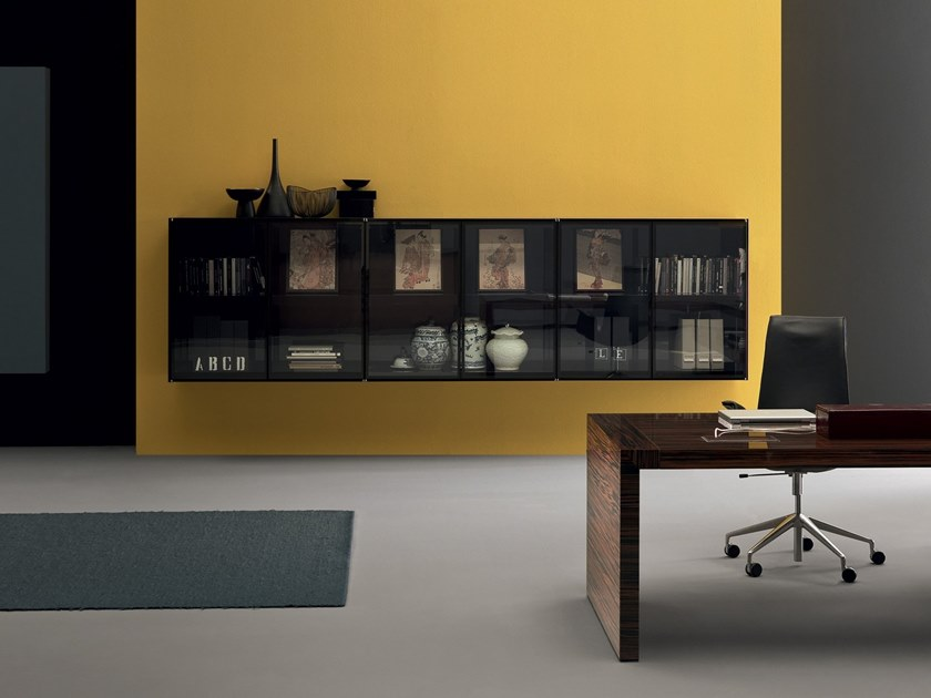 Modular wood and glass office shelving CUBIK | Office shelving by Martex