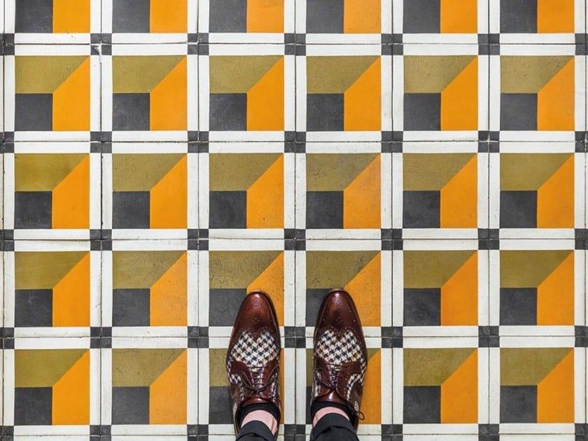Cement wall/floor tiles CUBIQUE 8 by BEAUREGARD
