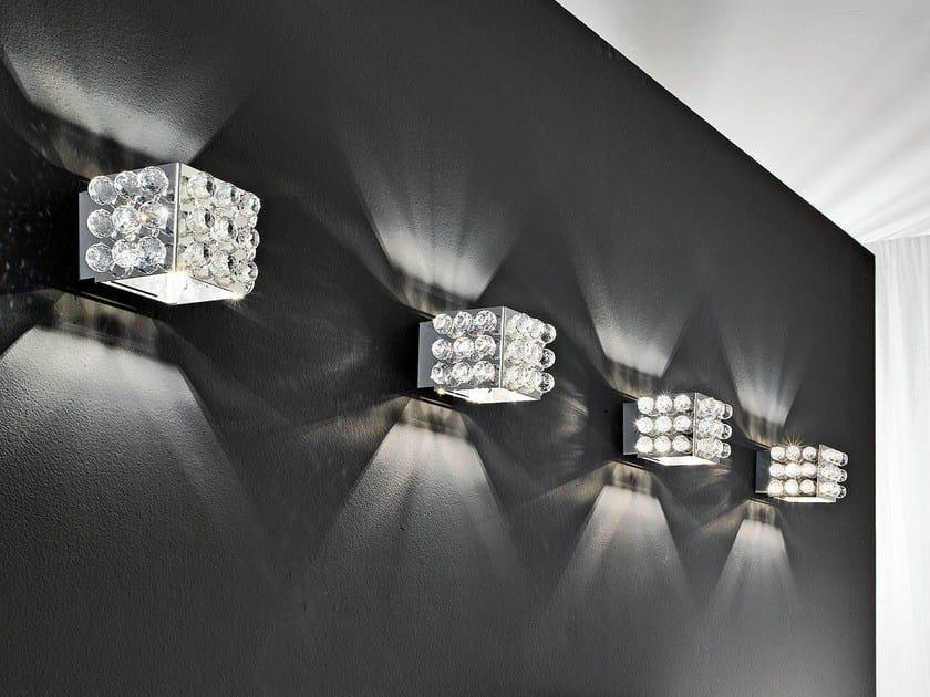 Applique a luce diretta e indiretta in acciaio inox CUBIX | Applique by Masiero