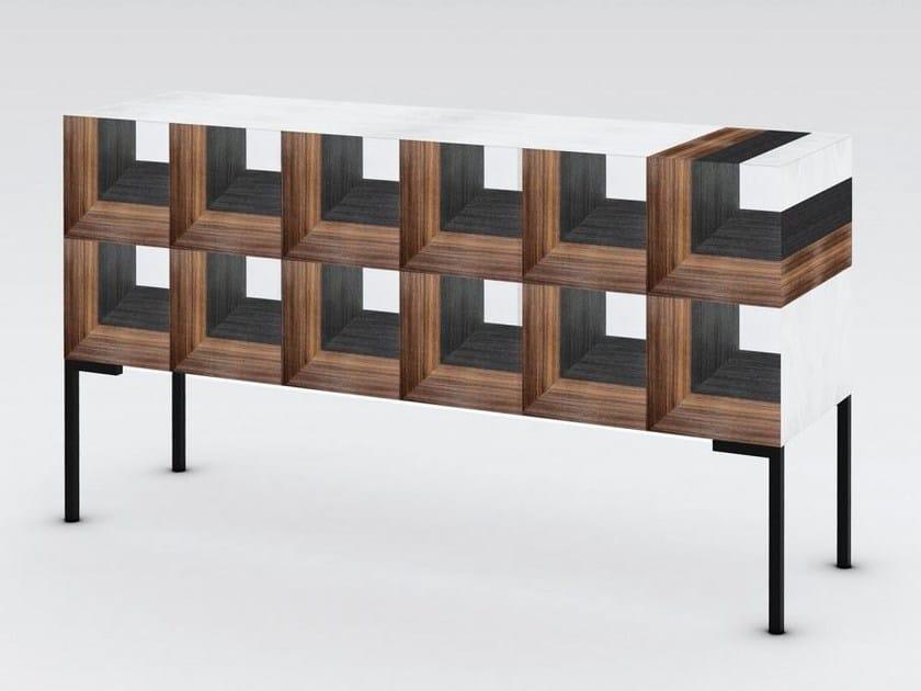 Ebony sideboard with doors CUBO | Sideboard by HEBANON