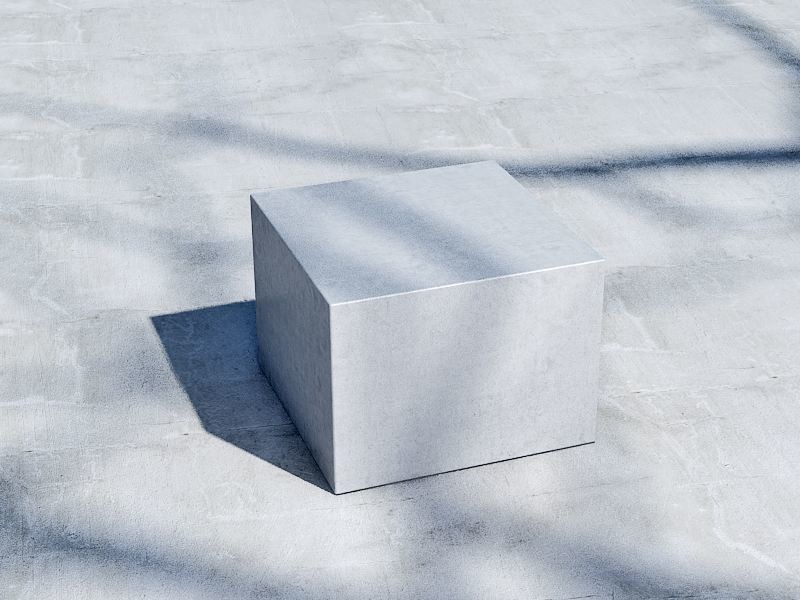 Concrete outdoor chair CUBO (60) by SIT