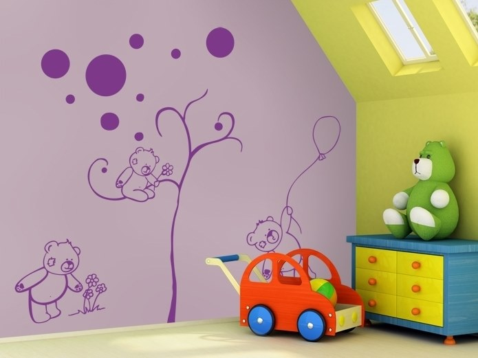 Kids wall sticker CUBS FAMILY by ACTE-DECO