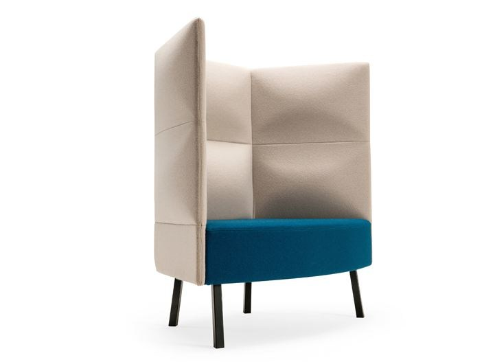 High Back Fabric Lobby Chair CUMULUS | High Back Armchair By NARBUTAS