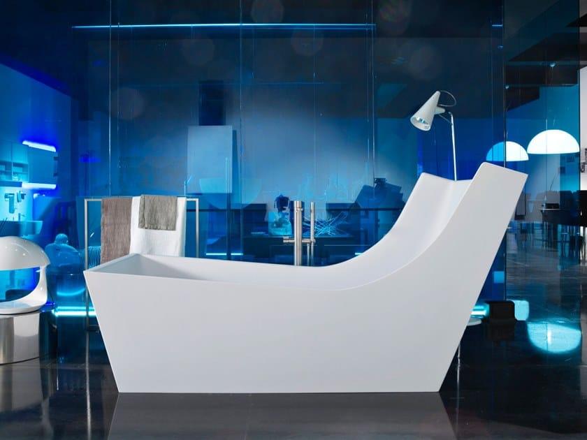 Freestanding Cristalplant® bathtub CUNA By Antonio Lupi ...