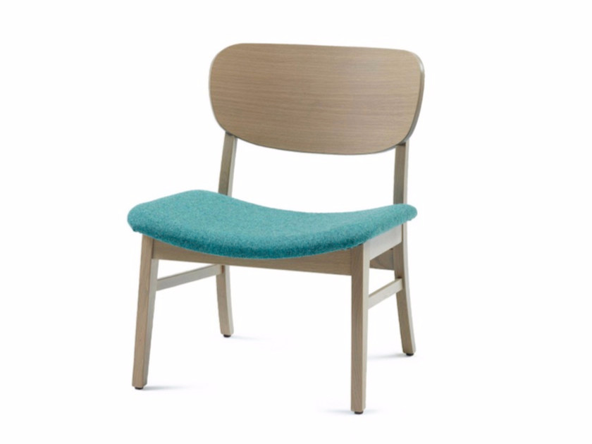 Upholstered fabric easy chair CUP CUP LOUNGE 03 by Z-Editions