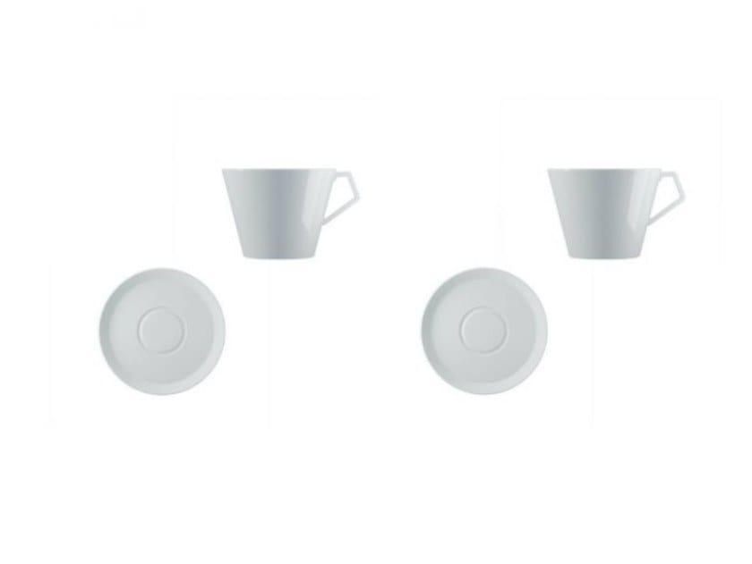 Set di tazze da tè in porcellana con piattino ANATOLIA | Set di tazze da tè by Driade