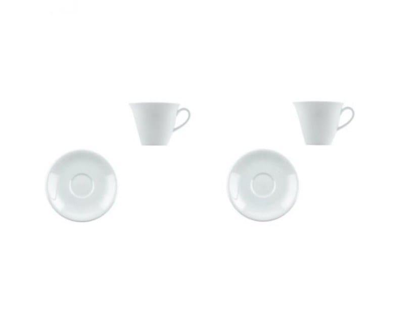 Set di tazze da caffè in porcellana con piattino THE WHITE SNOW | Set di tazze da caffè by Driade