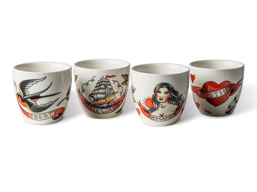 Set di tazze in ceramica TATTOO   Set di tazze by Pols Potten