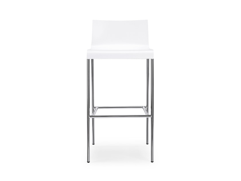 High HPL barstool with footrest CURVE IS1 C120 by Interstuhl