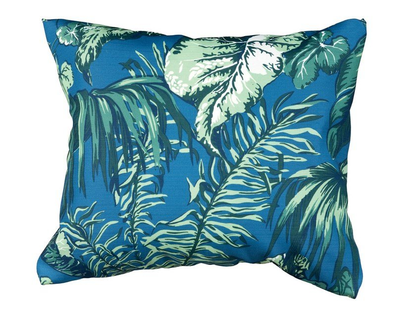 Rectangular outdoor fabric cushion Foliage backrest cushion by Tectona