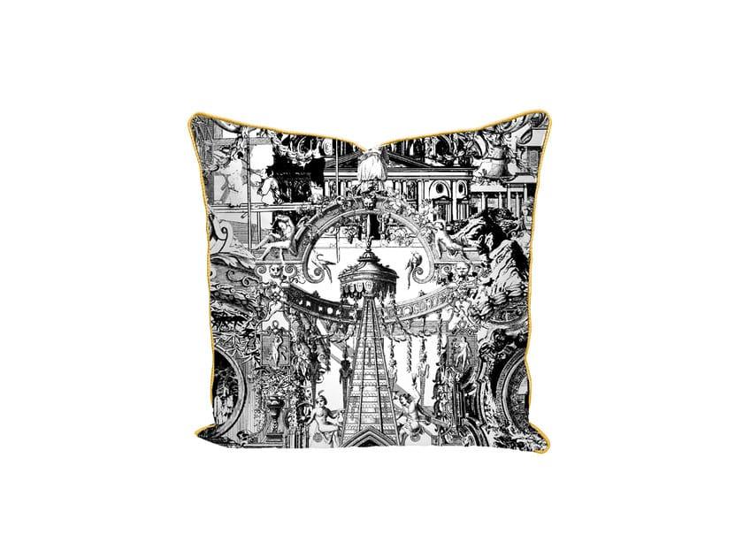 Motif square cotton cushion SANCTUARY SKULL | Cushion by Mineheart
