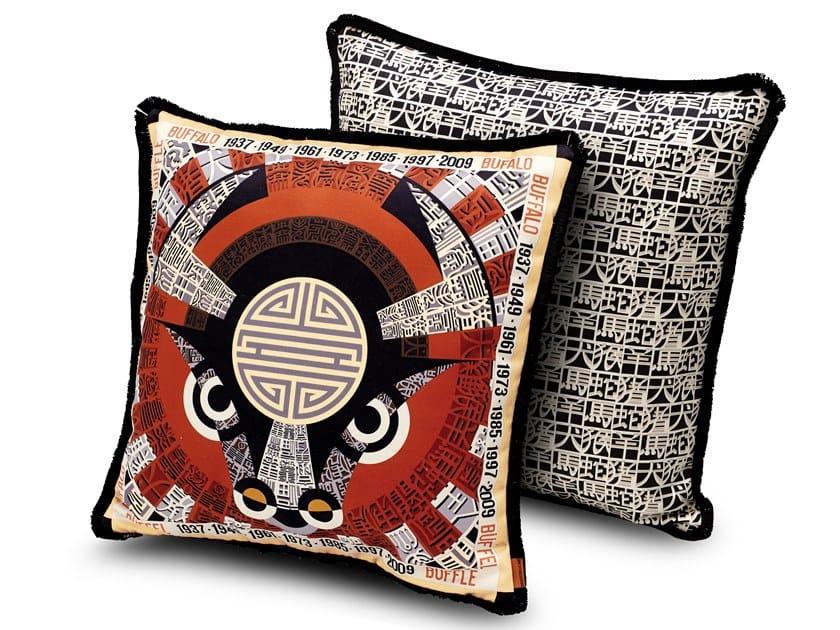 Satin cushion with digital print OROSCOPO | Cushion by MissoniHome