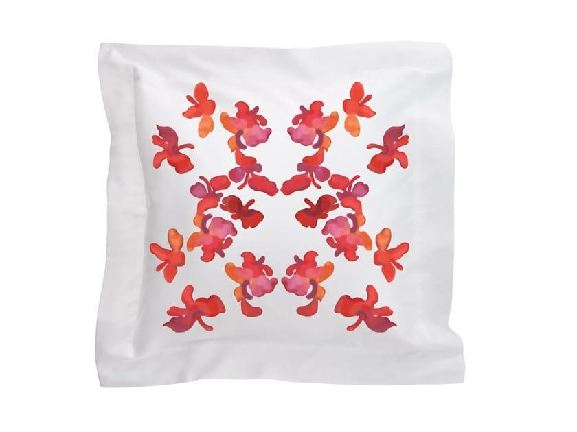 Cuscino quadrato in cotone con motivi floreali BUTTERFLY | Cuscino by Sans Tabù