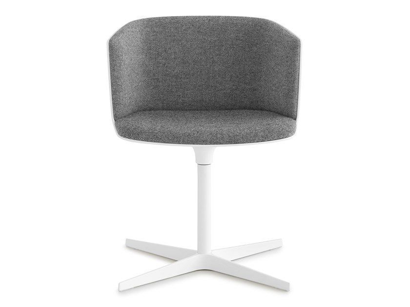 Swivel upholstered fabric chair with 4-spoke base CUT   Chair with 4-spoke base by Lapalma