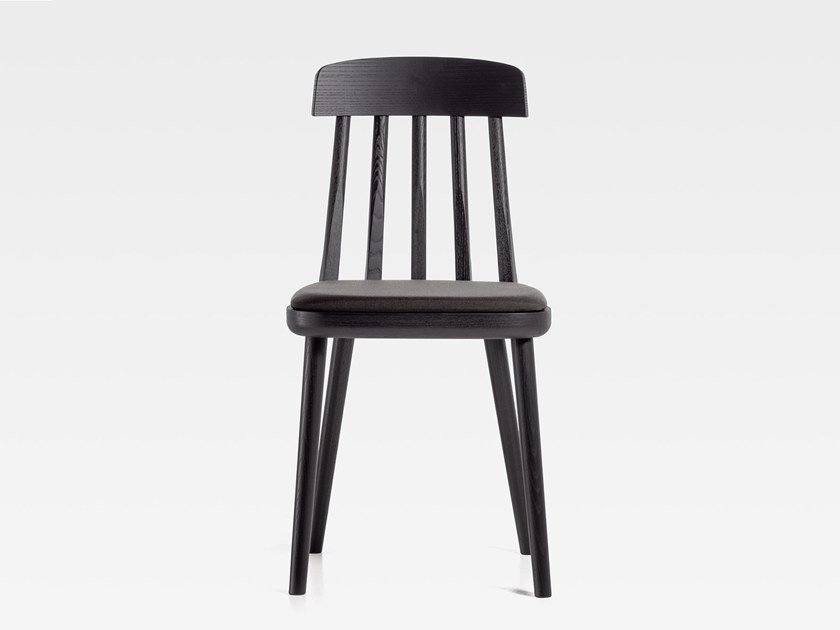 Wooden chair with integrated cushion CUT | Chair with integrated cushion by SIPA